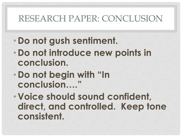 research process paper conclusion Strategies for writing a conclusion show them that your paper was meaningful and the importance of your paper or redirect the readers' thought process.