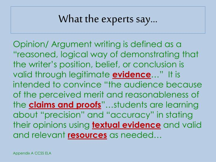 What the experts say…
