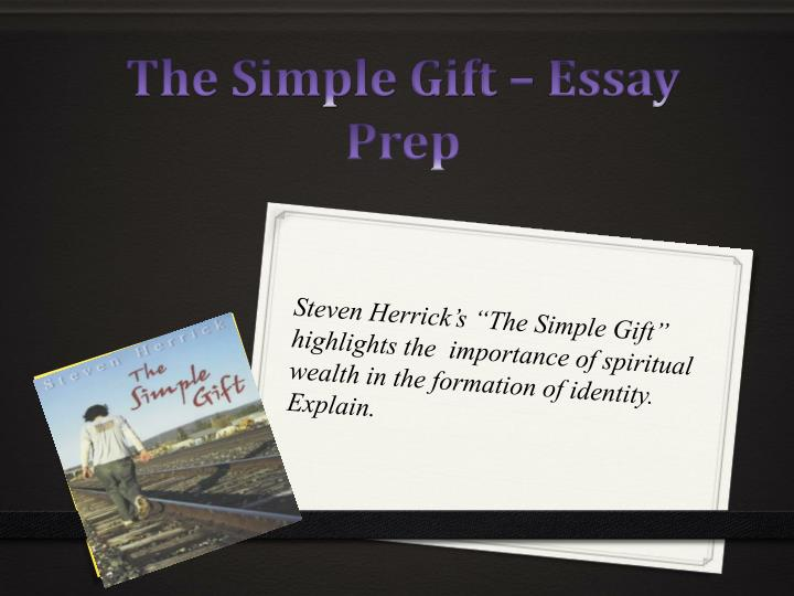 the simple gift old bill essay
