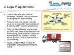 2 legal requirements