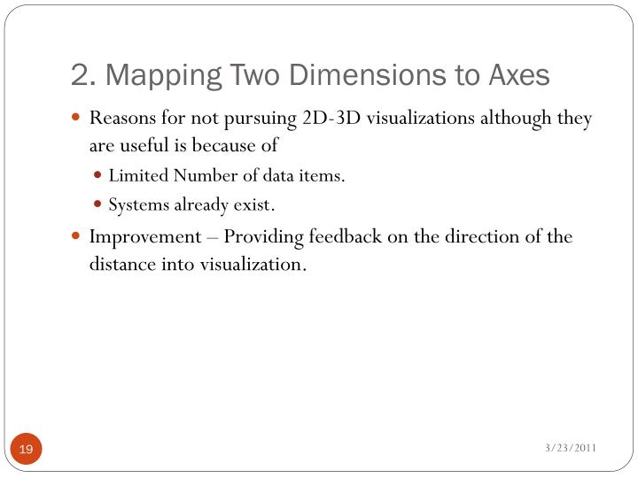 2. Mapping Two Dimensions to Axes