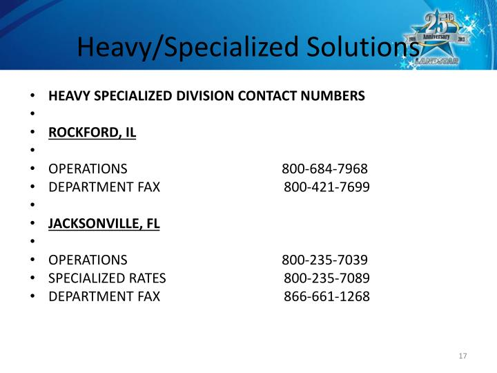 Heavy/Specialized Solutions