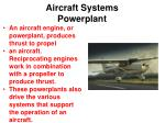 aircraft systems powerplant