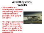 aircraft systems propeller