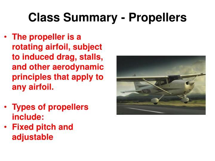 Class Summary - Propellers