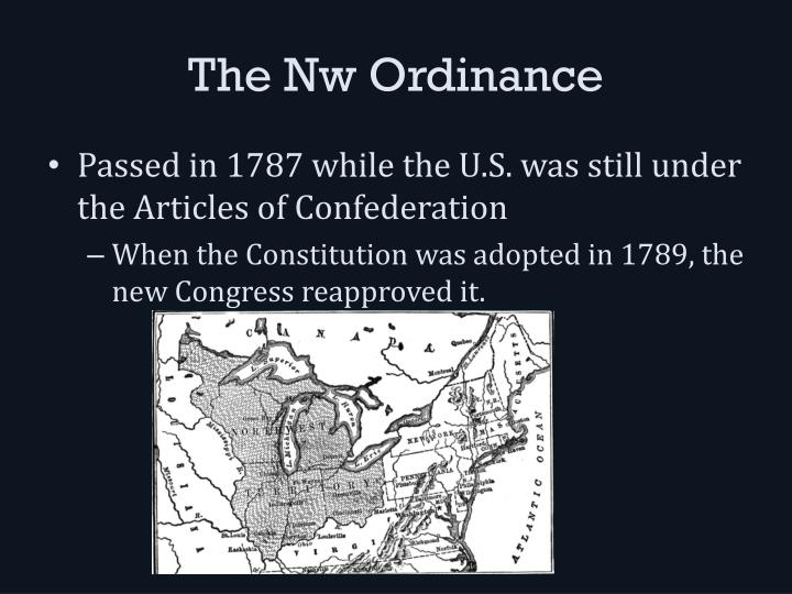 The nw ordinance