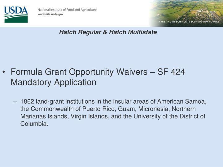 Hatch Regular & Hatch Multistate