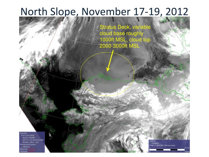 North Slope, November 17-19, 2012