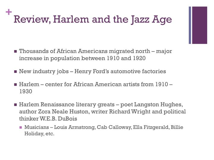 Review harlem and the jazz age