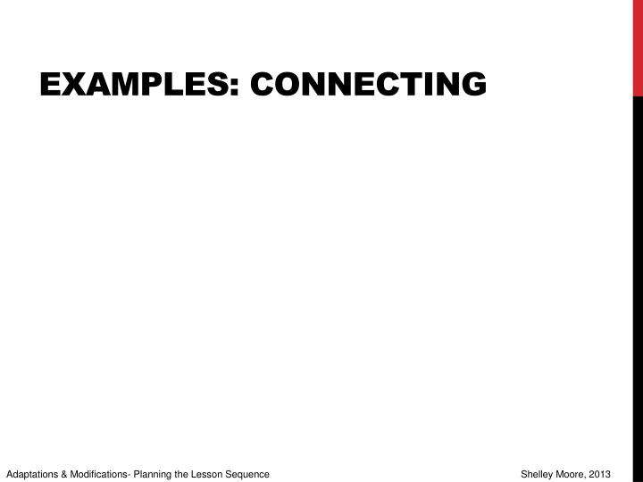 Examples: Connecting