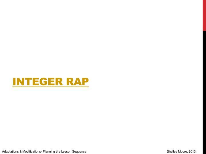 Integer Rap