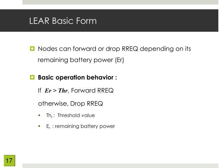 LEAR Basic Form