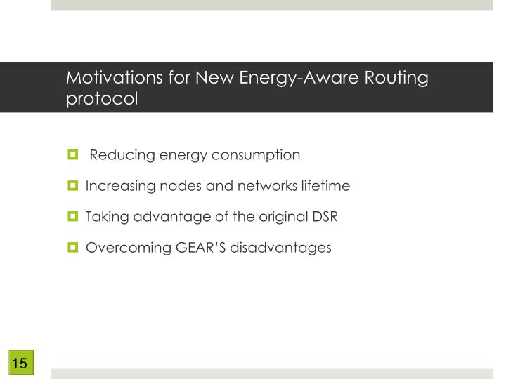 Motivations for New Energy