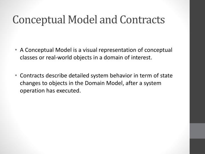 Conceptual Model and Contracts