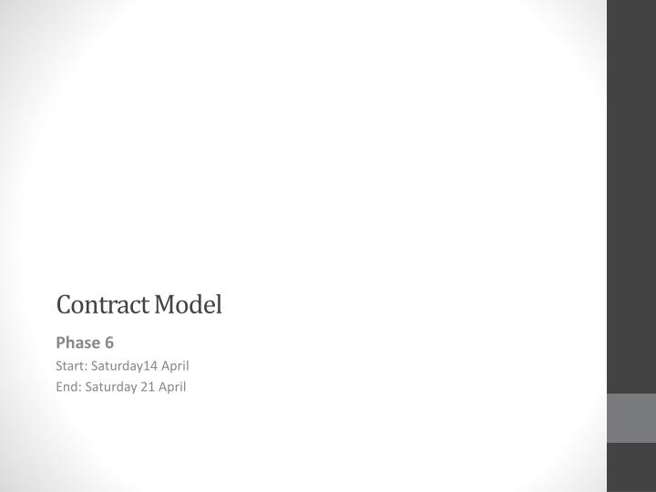 Contract model