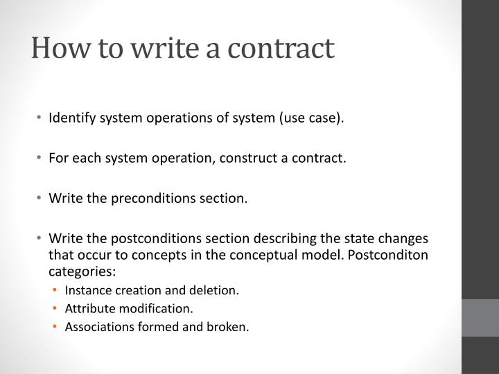 How to write a contract