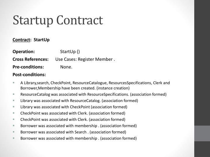 Startup Contract