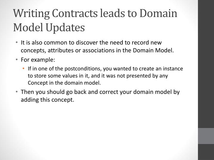 Writing Contracts leads to Domain Model Updates