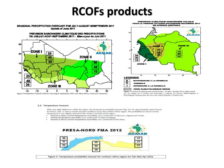 RCOFs products