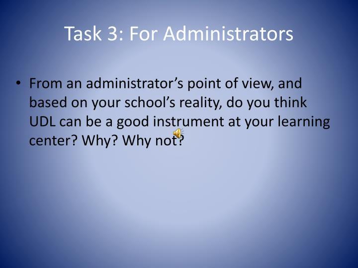 Task 3: For Administrators