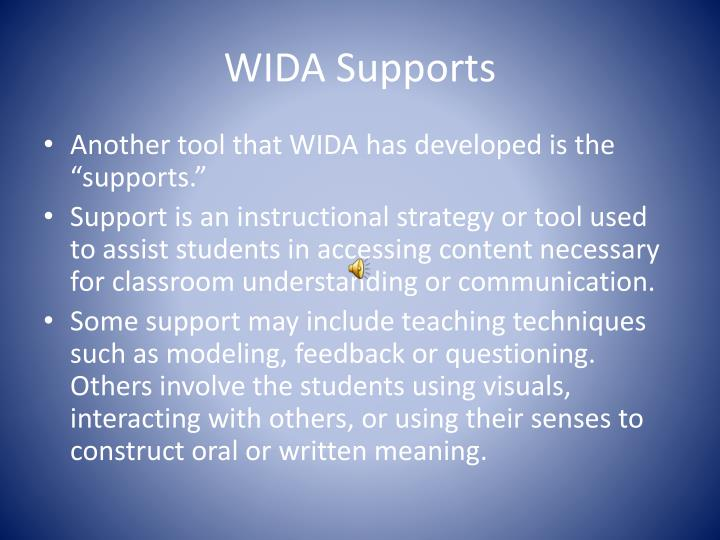 WIDA Supports