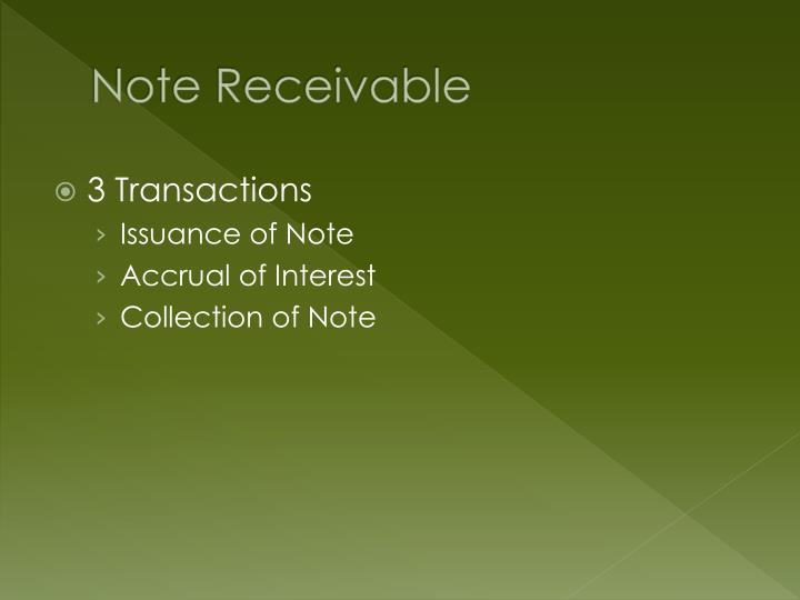 Note Receivable