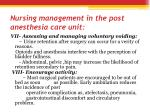 nursing management in the post anesthesia care unit2