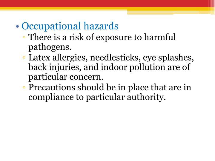 Occupational hazards