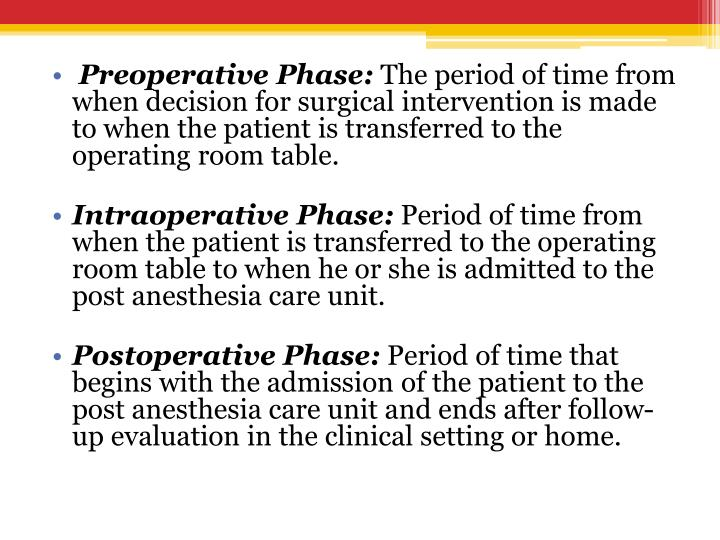 Preoperative Phase: