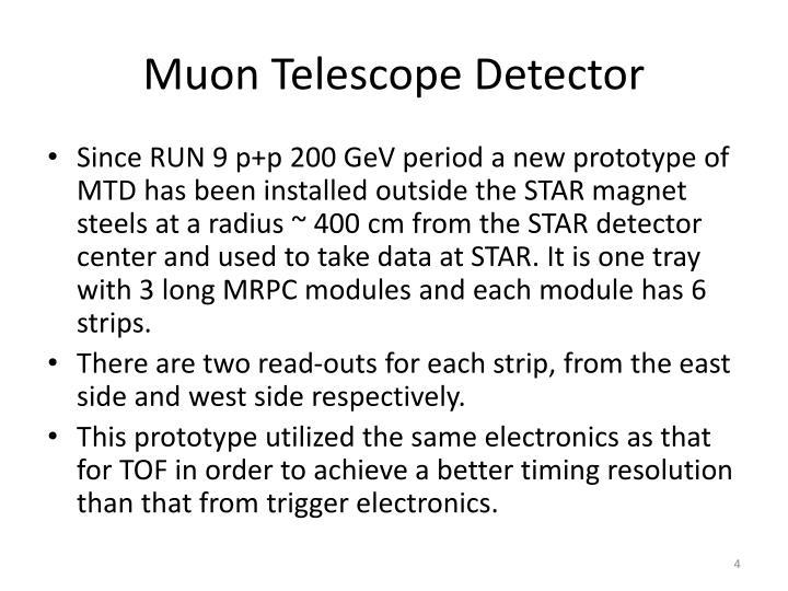 Muon Telescope Detector