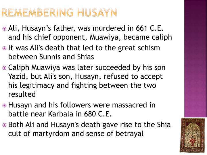 Remembering Husayn