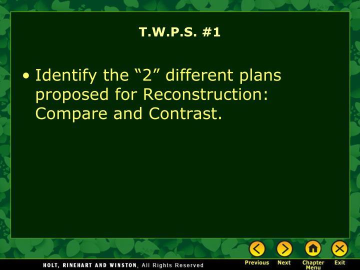 T.W.P.S. #1