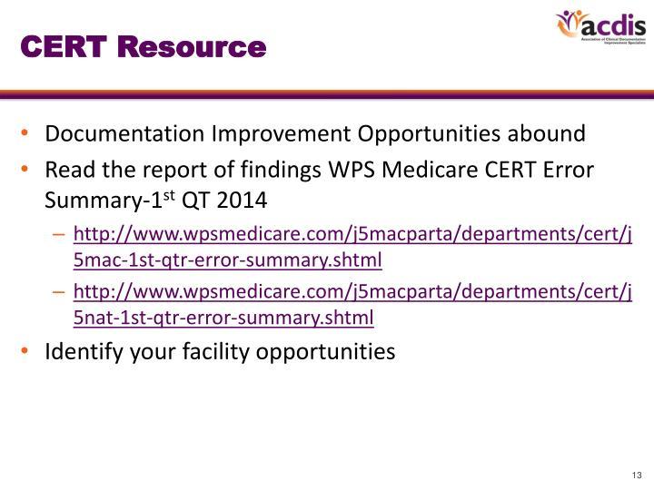 CERT Resource
