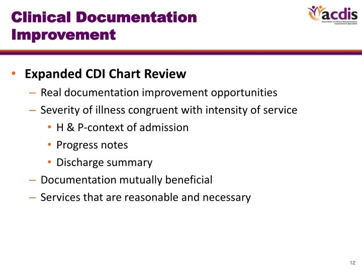 Clinical Documentation Improvement