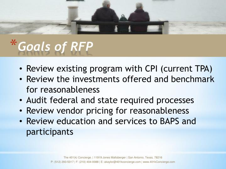 Goals of rfp