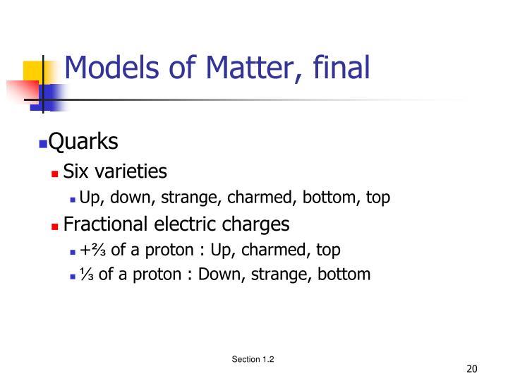Models of Matter, final