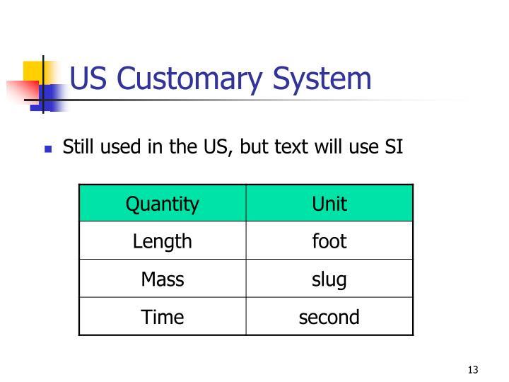 US Customary System
