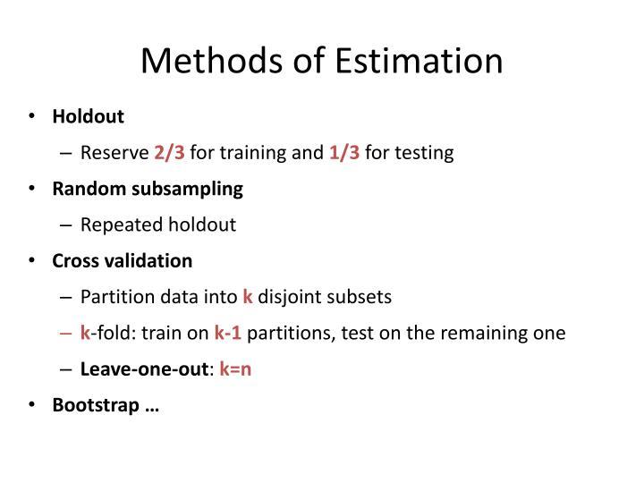 Methods of Estimation