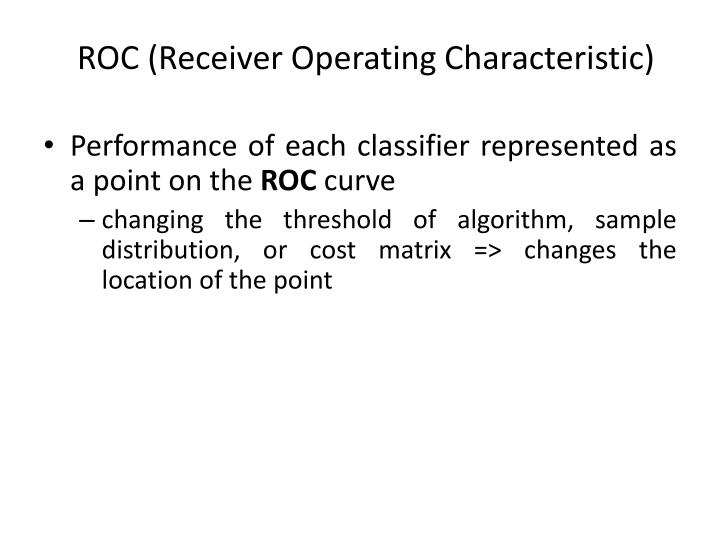 ROC (Receiver Operating Characteristic)