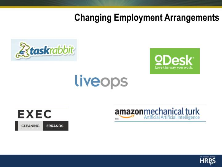 Changing Employment Arrangements