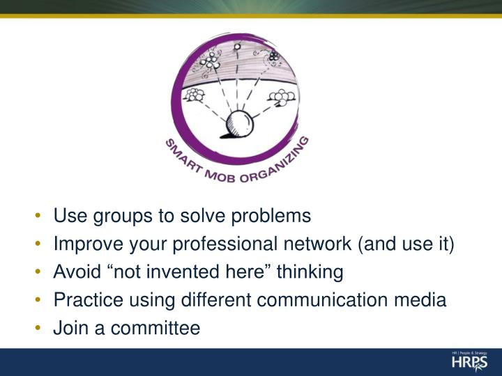Use groups to solve problems