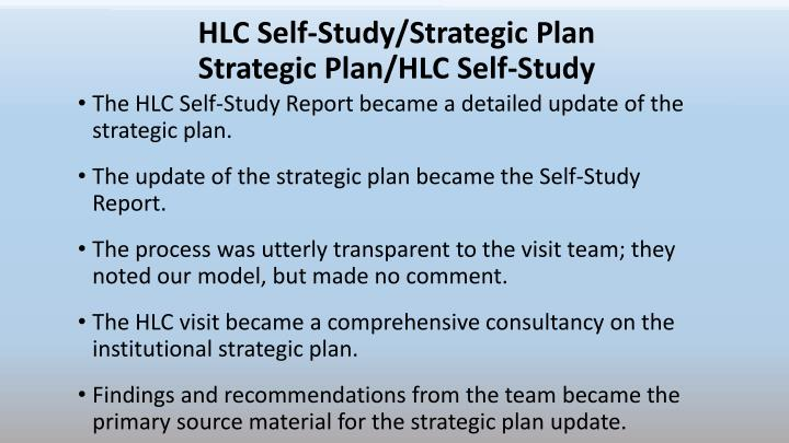 HLC Self-Study/Strategic Plan