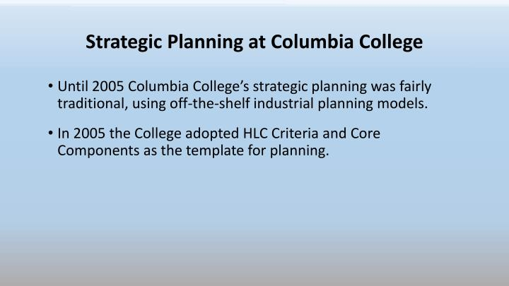 Strategic Planning at Columbia College