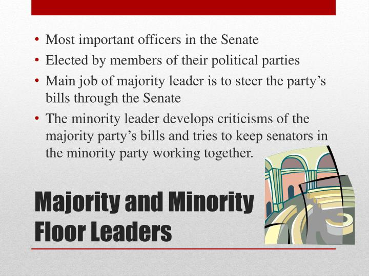 Most important officers in the Senate