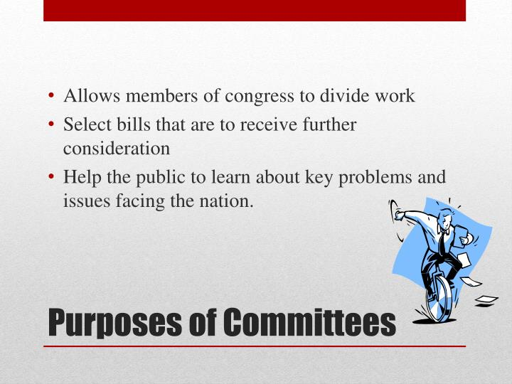 Allows members of congress to divide work