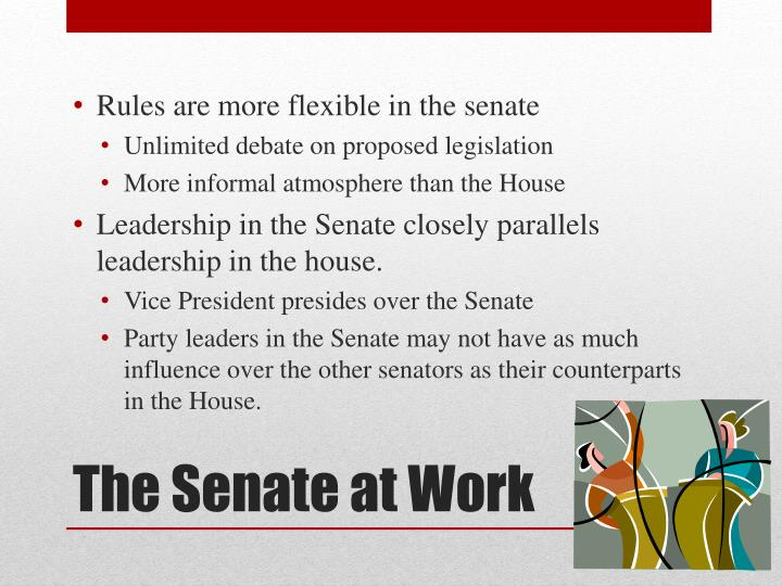 Rules are more flexible in the senate