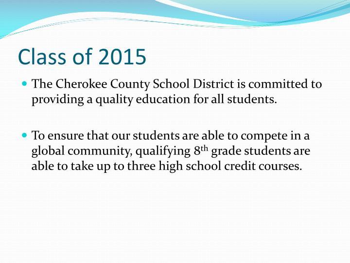 Class of 2015