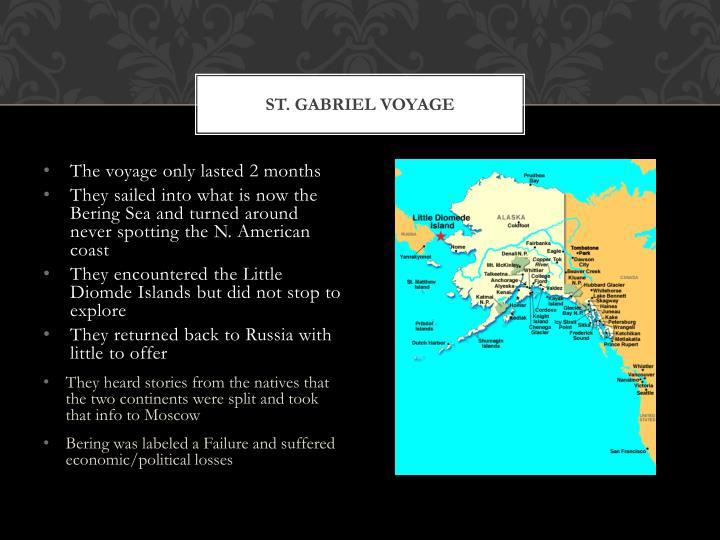 St. Gabriel Voyage