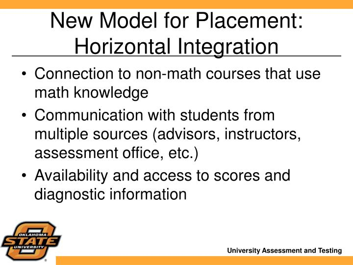 New Model for Placement: Horizontal Integration