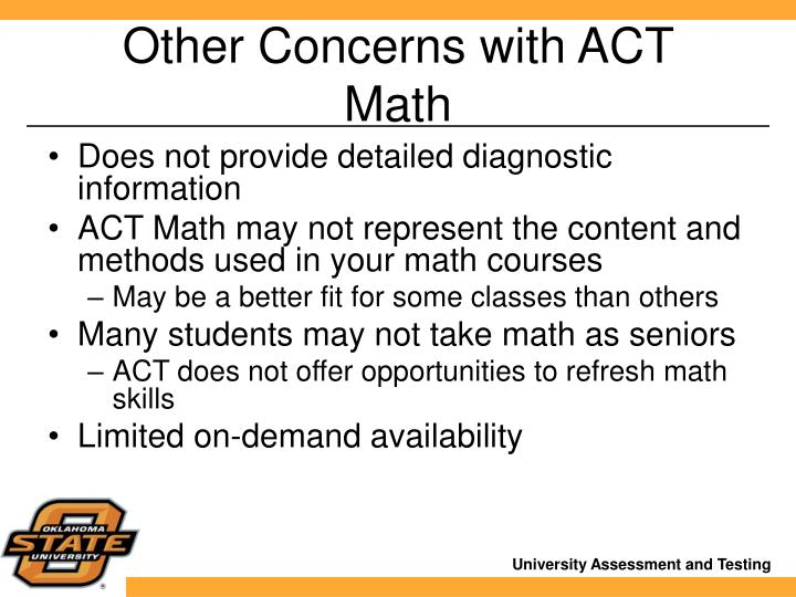 Other Concerns with ACT Math